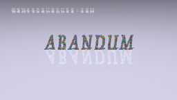 How to Pronounce ABANDUM